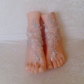 PEAPUG3 barefoot sandles wedding prom party steampunk bangle beach anklets bangles bridal bride bridesmaid = 1929729860