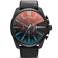Diesel Iridescent Crystal Mega Chief Chronograph Watch - Black