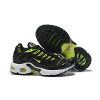 Nike Air Max Plus Black White Green Child Sneaker Toddler Kid Shoes - Best Deal Online