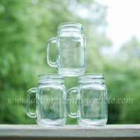 3 Handled Mason Jars for DIY Rustic Weddings, Parties, and More