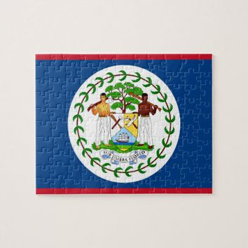 Puzzle with Flag of Belize