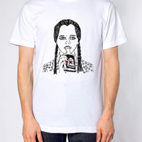 Wednesday Addams t-shirt /  Illustrated unisex t-shirts / Wednesday Addams Tee
