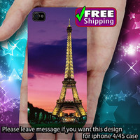 Eiffel Tower Paris iPhone Case Cover Plastic