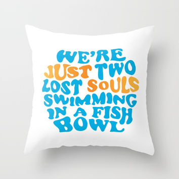 Floyd Pink - wish you were here Throw Pillow by g-man