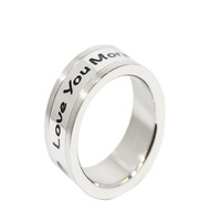 Love You More Stainless Steel Ring 6-10