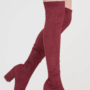Tall Tale Over-The-Knee Chunky Boots