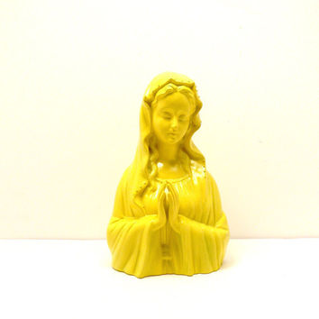 ceramic virgin mary statue // religious upcycled by nashpop