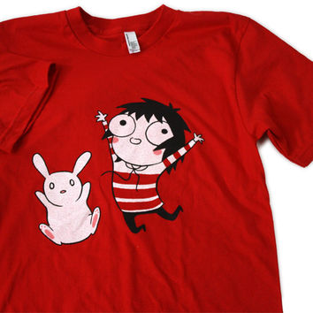TopatoCo: Sarah's Scribbles Jumpin' Shirt (Red)