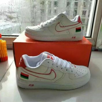 """Nike Air Force 1"" Unisex Sport Casual Multicolor National Flag Low Help Shoes Sneaker"