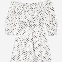Mini Polka Dot Bardot Dress - Dresses - Clothing