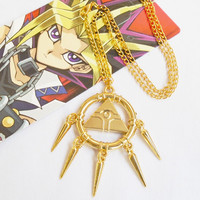 Yu-Gi-Oh Yugioh Necklace Big Metal Pendant Anime Yugioh Millenium Jewelry Yu Gi Oh Cosplay