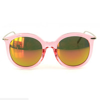 Collections - Pink Metal Frame Sunglasses