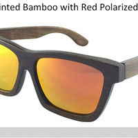 Men Wood Wayfarer Polarized Sunglasses