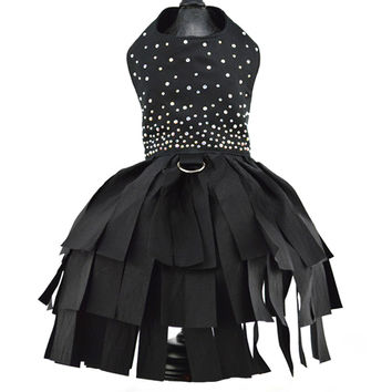 Black Crystal Cocktail Dress