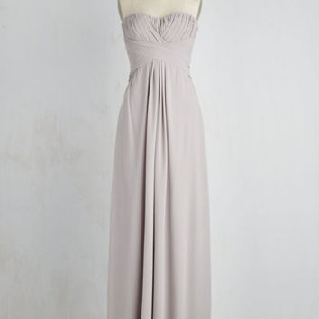 Long Strapless A-line All Award Dress
