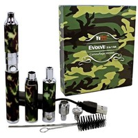 YOCAN EVOLVE CAMOUFLAGE EDITION 3 IN 1 WAX, DRY HERB, AND THICK OIL VAPE PEN KIT