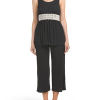 Chloe Crop Pant Sleep Set - Sleepwear - T.J.Maxx