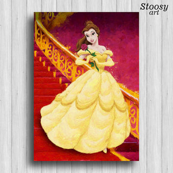 disney princess belle print beauty and the beast princess room decor