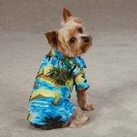 Hawaiian Luau Dog Shirt Summer Tee - Small/Medium