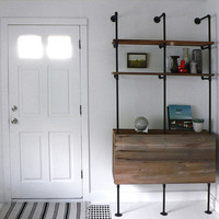 5 DIY Wood Shelving Units Connected With Pipes | Shelterness