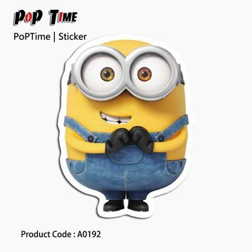 A0192 minions Albums Message Large stickers luggage decoration bedroom living room album cabinet guitar guitar shoes switch toys