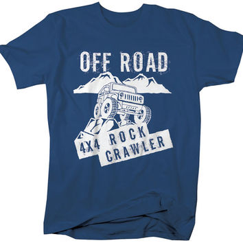 4X4 Rock Cralwer Off Road T-Shirt Roading Shirts Mountain Climb Driving Shirts Gift Idea