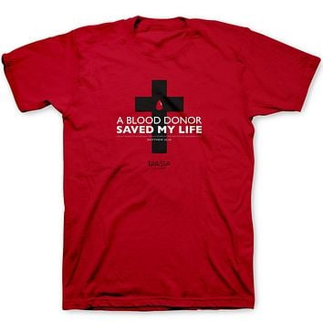 Christian T Tee Shirt Womens Mens A BLOOD Donor Saved My Life S M L XL ALL SIZES
