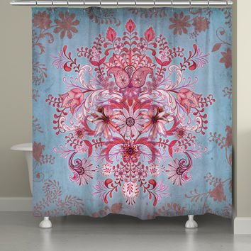 Pink Kaleidoscope Shower Curtain