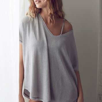 Out From Under Frankie Oversized Thermal Tee | Urban Outfitters