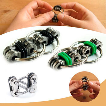 Hot Sale Hand Spinner Tri-Spinner Key Ring Reduce Stress EDC Autism ADHD Fidget Toys