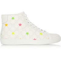 Gucci - Brooklyn monogram star-print leather sneakers
