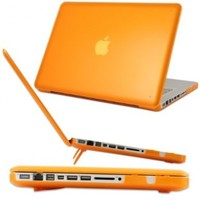iPearl mCover Hard Shell Case with FREE keyboard cover for Model A1278 13-inch Regular display Aluminum Unibody MacBook Pro - ORANGE
