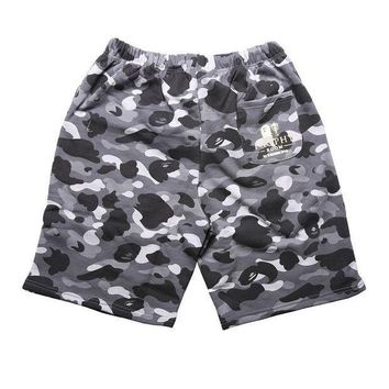 LMFON Camouflage Men Casual Pants Shorts