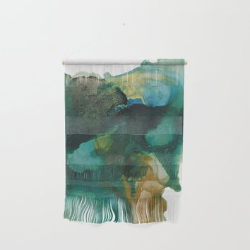Green and Gold Wall Hanging by duckyb