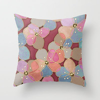 It's Always Summer Somewhere - translucent poppy doodle Throw Pillow by micklyn