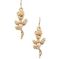 Rose Floral Drop Earrings
