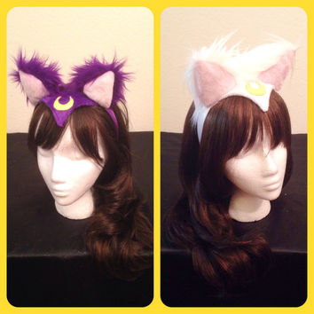 Sailor Moon Luna Artemis Diana Kitty Cat Ears