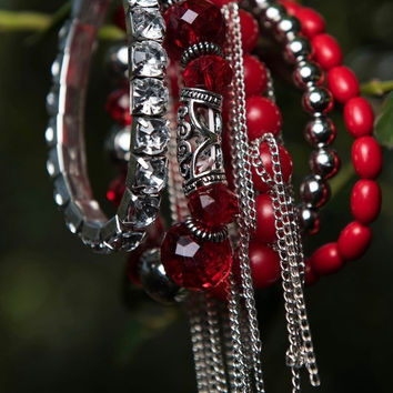 Red Sassy Stretch Bracelets