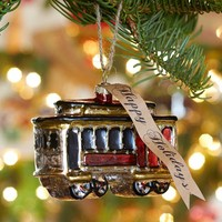 Trolley Glass Ornament | Pottery Barn