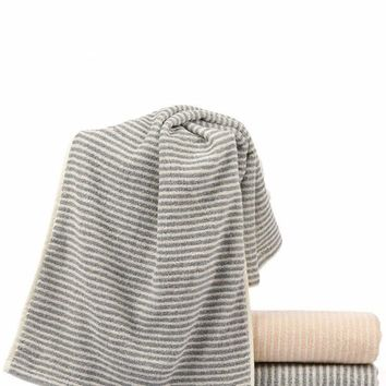 Random Color Striped Towel 1pc