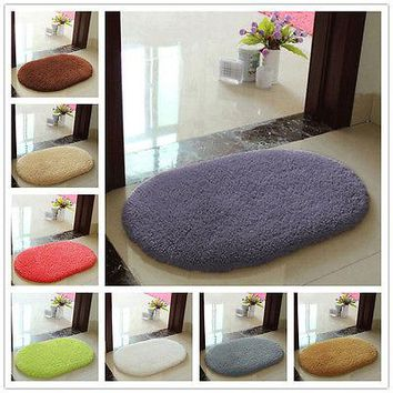 8 Colors Anti-slip Bathroom Rug Soft  Floor Mat Memory Foam Mat Bedroom Room