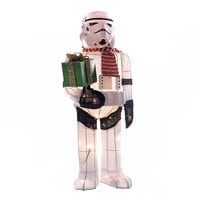 Kurt Adler Collection 28-Inch Star Wars Stormtrooper Light-Up Tinsel Lawn Décor
