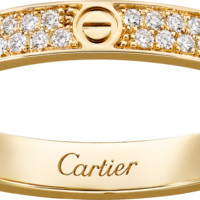 LOVE ring, SM: LOVE ring, small model, 18K yellow gold, set with 72 brilliant-cut diamonds totaling 0.19 carats.