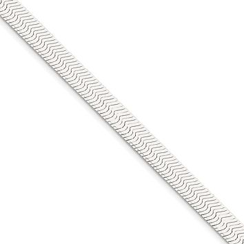 Men's 8mm, Sterling Silver Solid Herringbone Chain Bracelet