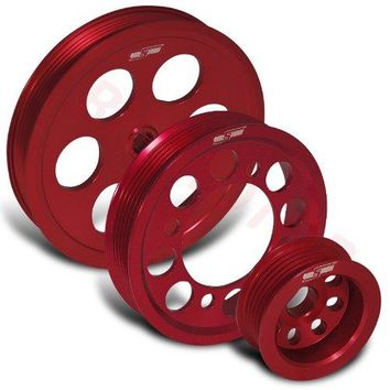 93-97 Supra Jza80 3.0l 2jz Motor High Performance Under Drive Crank Pulley Red