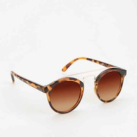 Arched Metal Mix Sunglasses-