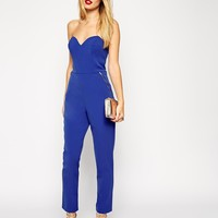 ASOS Jumpsuit in Bandeau with Zipper Detail at asos.com