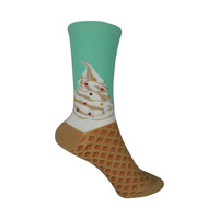 Soft Serve Crew Socks in Mint