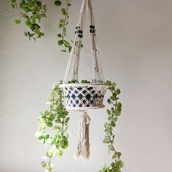 Macrame Plant Hanger or Fruit Basket