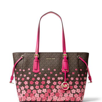 MICHAEL Michael Kors Voyager Medium Printed Tote Bag